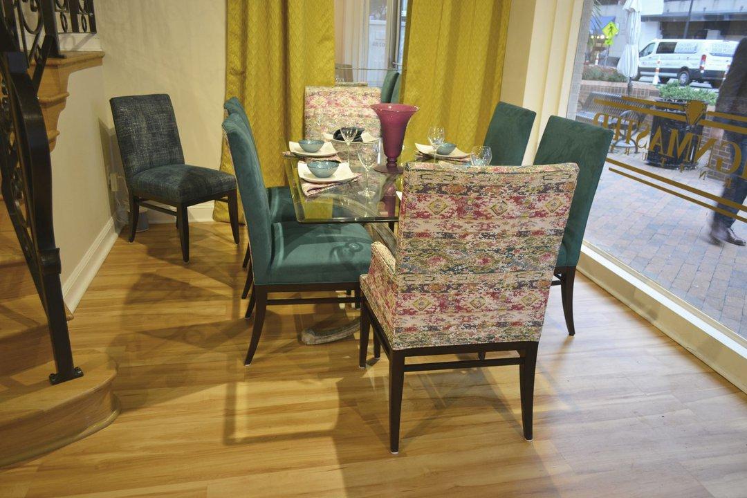 Set A Bergen Set - 01-534/04-535 - 01-534 - Novasuede - T3P6-Jade, Tudor Standard finish, 01-535 - 1908-40 - Grade G - Tudor Standard finish